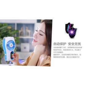 Portable Handheld Mini Beauty Replenishment Fan with Water Spray - 20160401 - Blue - 10