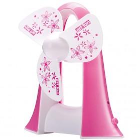 Portable Penguin Fan Shape / Kipas Angin - Pink