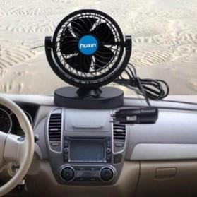 Huxin Kipas Mobil 360 Degree Mini Electric Car Fan - Black - 8