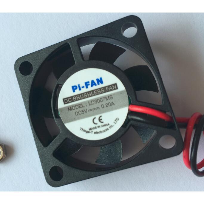 CPU Cooling Fan 30mm for Raspbery Pi B 1/2/3+ - Black