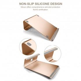 Easya Aluminium Stand Holder Laptop - NP-5 - Silver - 5