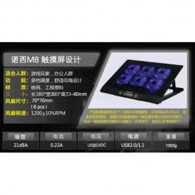 Cooling Pad Laptop - M8 - Black - 11