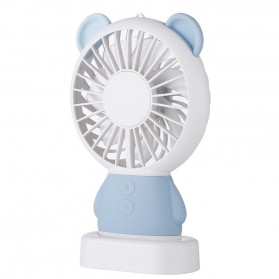 Damo Kipas Angin Portable dengan LED model Bear - ZW-2801 - Blue
