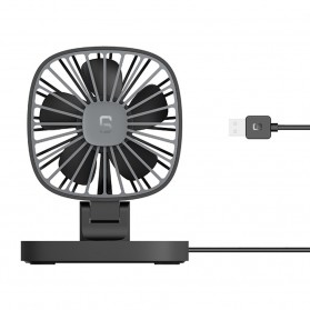 Kipas Angin Portable USB Fan 360 Rotation - LHH2415 - Black