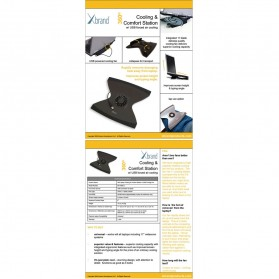 Xbrand Laptop Cooling Pad Stand with USB Fan Model (XB-1009-US) - 2
