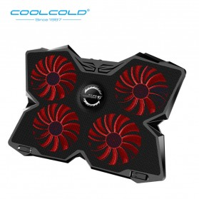Coolcold Gaming Cooling Pad Laptop Notebook 4 Kipas - K25 - Red
