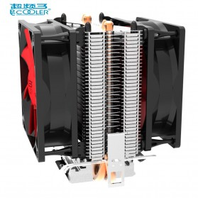 Laptop / Notebook - PcCooler Mini CPU Heatsink 2 Heatpipe with 2 Fan 80mm - HS115 - Black/Red