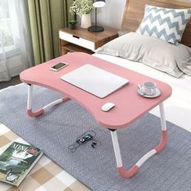 NWDESK Meja Belajar Laptop Lipat Portable Desk - L62 - Pink