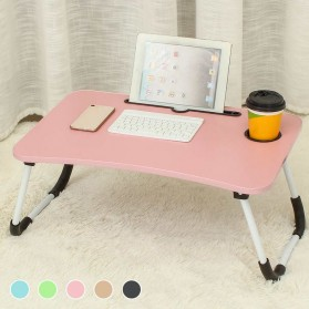 NWDESK Meja Belajar Laptop Lipat Portable Desk with Bottle Hole - L62 - Pink