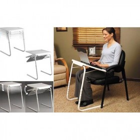 Table Mate II Meja Laptop Lipat Portable Laptop - White - 4