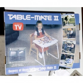 Table Mate II Meja Laptop Lipat Portable Laptop - White - 5