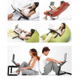 Taffware Meja Laptop Portable Table Length 42 x 26 cm - Z19 - Black - 4