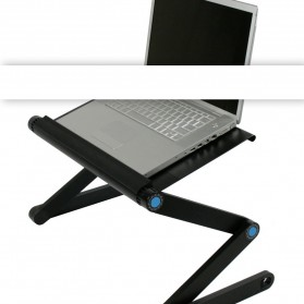 Portable Laptop Table with Mouse Desk Length 42cm - A-LD-42B - Black - 2