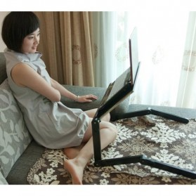 Portable Laptop Table with Mouse Desk Length 42cm - A-LD-42B - Black - 3