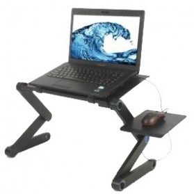 Portable Laptop Table with Mouse Desk Length 42cm - A-LDM-42B - Black