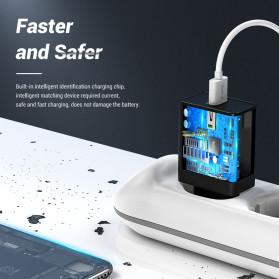TOPK Charger USB Fast Charging 1 Port QC3.0 18W - B154Q - Black - 3