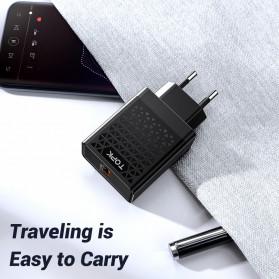 TOPK Charger USB Fast Charging 1 Port QC3.0 18W - B154Q - Black - 6