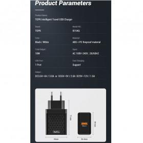 TOPK Charger USB Fast Charging 1 Port QC3.0 18W - B154Q - Black - 7