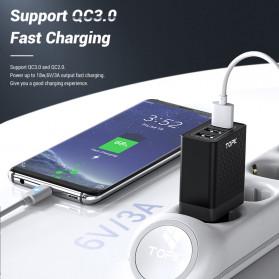 TOPK Charger USB Fast Charging 3 Port QC3.0 30W - B354Q - Black - 2