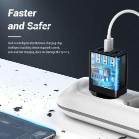 TOPK Charger USB Fast Charging 3 Port QC3.0 30W - B354Q - Black - 4