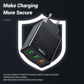 TOPK Charger USB Fast Charging 3 Port QC3.0 30W - B354Q - Black - 6