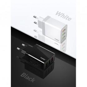 TOPK Charger USB Fast Charging 3 Port QC3.0 30W - B354Q - Black - 8
