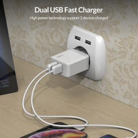TOPK Charger USB Fast Charging 2 Port QC3.0 28W - B244Q - White - 3