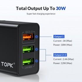 TOPK Charger USB Fast Charging 2 Port QC3.0 28W - B348Q - Black - 6