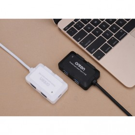 Robotsky USB Hub 3.0 4 Port with USB Power Supply - U9102B - Black - 9