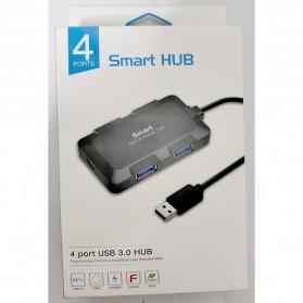 Robotsky USB Hub 3.0 4 Port with USB Power Supply - U8102B - Black - 11
