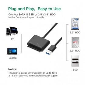 SATA to USB 3.0 HDD / SSD Adapter - UT-3112 - Black - 3