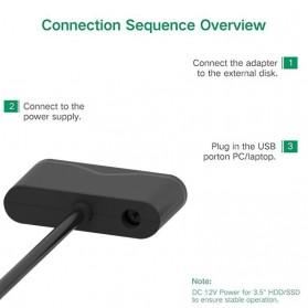 SATA to USB 3.0 HDD / SSD Adapter - UT-3112 - Black - 4