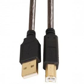 Kabel USB Type A 2.0 to USB Type B Data Cable 2 Meter - Black - 3