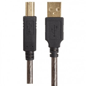 Kabel USB Type A 2.0 to USB Type B Data Cable 2 Meter - Black - 4