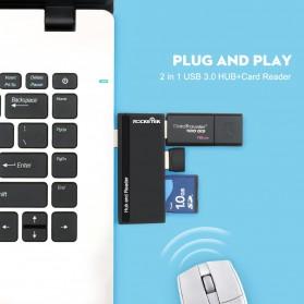 USB Hub with Micro + SD Card Reader - RT-SUR-U2B - Black - 5