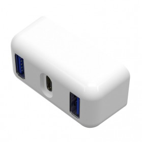 USB Type C Hub Interface Adapter 3 Port PD Charging for Apple MagSafe 30W A1882 - TC04 - White - 2