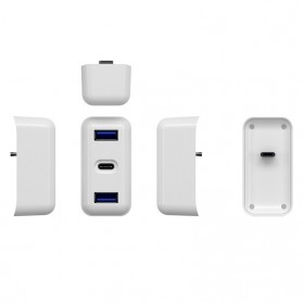 USB Type C Hub Interface Adapter 3 Port PD Charging for Apple MagSafe 30W A1882 - TC04 - White - 5
