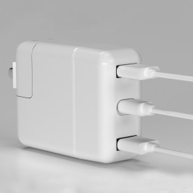 USB Type C Hub Interface Adapter 3 Port PD Charging for Apple MagSafe 30W A1882 - TC04 - White - 6