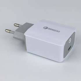 Charger Smartphone 1 Port Quick Charge 3.0 with USB Type C Cable 1 Meter - CA-27T Plus - White - 2