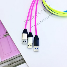 Cyliliya Kabel Charger Rainbow 3 in 1 Micro USB + Lightning + USB Type C 1 Meter 2.1A - CY01 - Multi-Color - 3