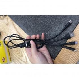 Kabel Charger 3 in 1 Lightning 8 Pin Micro USB Type C 1 Meter - DC107 - Black - 4