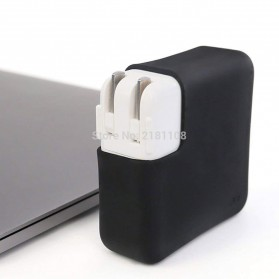 JRC Ultra Thin Silicone Cover Magsafe Charger Case for Macbook Pro 13 Inch Touchbar 61W - KF01 - Black - 6