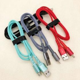 Essager Kabel Charger Micro USB LED Light 2.1A 1 Meter - EX1 - Black - 2