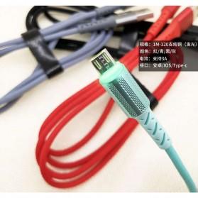 Essager Kabel Charger Micro USB LED Light 2.1A 1 Meter - EX1 - Black - 3