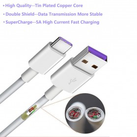 Essager Kabel Charger SuperCharger Micro USB 1 Meter 5A - EX3 - White - 2