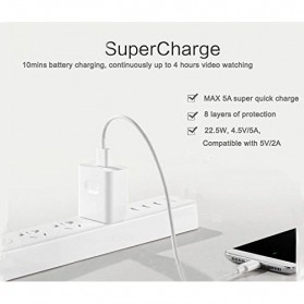Essager Kabel Charger SuperCharger Micro USB 1 Meter 5A - EX3 - White - 6