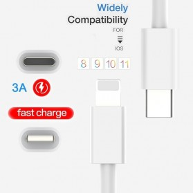 USB-C To Lightning Cable 1 Meter - White - 4