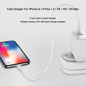 USB-C To Lightning Cable 1 Meter - White - 6