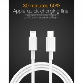 USB-C To Lightning Cable 1 Meter - White - 7