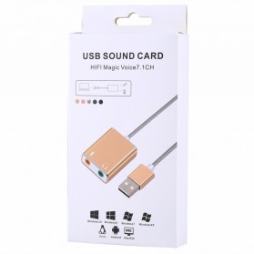YUNCLOUD External USB Cable Sound Card Virtual 3D Audio 7.1 Channel - HS100B - Silver - 5